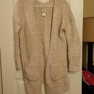 Fuzzy cardigan,  EUC